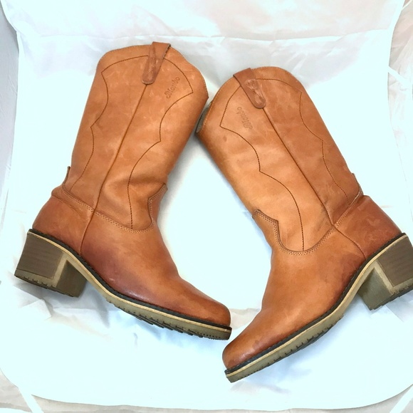 443030068476 Blondo Shoes - Blondo Leather sherpa Lined Cowboy Boots Boho tall